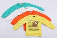 Wholesale Fashion Cotton Unisex Baby t shirts Popular Childrens t shirt Kids Wear Free Shipping