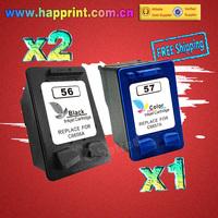 Inkjet Ink C6656A C6657A for hp printer cartridge for hp 56 57 Deskjet 450 450cbi 450ci 450wbt F4140 5150 5550...(2BK+1C)