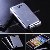 N7000 Combination Product,Metal Aluminum Frame Bumper Case+Brushed Battery Case + Gift Film For Samsung Galaxy Note N7000 i9220