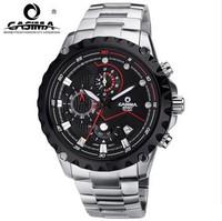 2014 real direct selling hardlex men casima 100 meters waterproof watch quartz stainless steel band luminous wristwatch Big dial