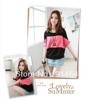 2013 spring and summer, the bats sleeve, leisure fashion T-shirt ,cotton t-shirt,Women's T-shirt, 012