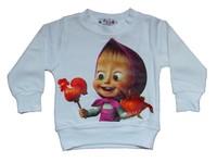 Hot 2015 New Design Retail Cotton boys and girls cartoon T-shirt Martha and Bear Kids T-shirt free shipping