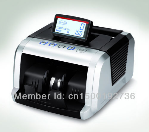 Free Shipping Currency Bill Money Counter EU-560 with UV+MG+IR Money Counting Machine Financial Equipment Wholesale(China (Mainland))