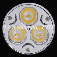 5pcs/lot 12V 3W MR16 White LED Light Led Lamp Bulb Spotlight Spot Light Free shipping