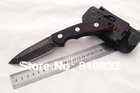 HOT SALE!R.HINDERER - Black Color Straight Combat Knife Tactical 58HRC 7Cr17 G10 Handle Free Shipping (350g)
