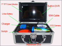 with DVR15M cable underwater camera for fishing / underwater  fishing camera, 7''high-definition 600 line,Freeshipping