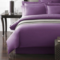 Plain rozene 1200 thread count twin special Egyptian cotton flat sheet bedding sets comforter sets light purple color
