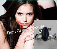 Freeshipping wholesale 20pc a lot The Vampire Diaries Elena Ring Alloy with Blue Semi-precious Stone Vampire Jewelry R0606