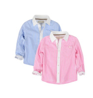 yccz24 autumn -summer casual striped kid boy shirt top quality new 2014 kids blouses & shirts for boys clothes 6pcs/ lot