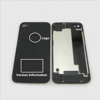 10pcs/lot quality Original Black White Glass Battery Cover Back replacement Housing For iPhone 4S 4GS ,Free Shipping