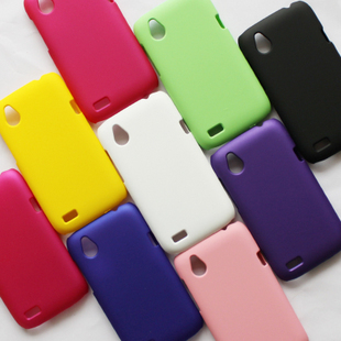 Free Shipping! High Quality Colorful Rubber Matte Hard Back Case for HTC Desire X T328e Frosted Plastic Case 9 Colors, HCC-006