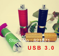 flash memory lipstick shape USB 3.0 Flash  Drive 32GB 64GB 128G 256G capacity usb3.0 Pendrive free shipping with tracking number