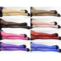 Min order 10 USD colorful velvet thin section was thin stockings silk feeling cored wire anti-hook breathable stockings