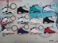 Free Shipping (12pcs/lot) Popular AJ VI Luminous Shoe Keychain,Sneaker Key Ring