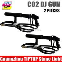 By DHL 2pcs/lot Co2 DJ Gun Stage Light 3Meter Hose CO2 Machine Hi-Quality CO2 Gun DJ Smoke Machine Handhold Stage CO2 gun