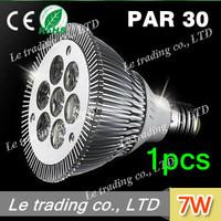 1pcs/lot 7W E27 PAR30 LED Bulb Lamp Light 85-256V  high power LEDs free shipping free shipping