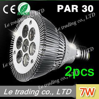 2pcs/lot 7W E27 PAR30 LED Bulb Lamp Light 85-256V  high power LEDs free shipping free shipping