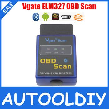 2015 High Quality V2.1 Super mini elm 327 Bluetooth ELM327 Vgate Scan Tool Mini elm327 Works on Android Torque Free Shipping