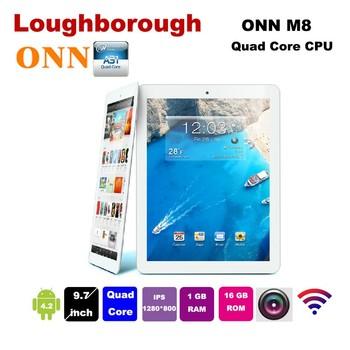 "ONN M8 Quad Core Allwinner A31S 1.0MHz 9.7"" Multi Touch Capacitive Screen 1GB RAM 16GB ROM"