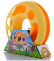 Cat toy crazy amusement plate - wheel turntable with spring color, cats love