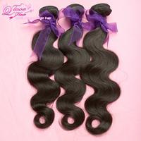 "3pcs/lot Q Love malaysian virgin hair  body wave hair extension,unprocessed hair,natural color,12""-30""Free shipping!"