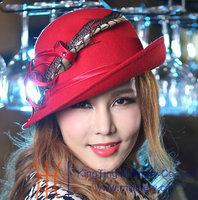 Free Shipping All-Match Casual Women's Hat Wool Felt Hat Women Fedoras Wool Fabric 100% Wool Winter Hat Handmade Fashion Hat