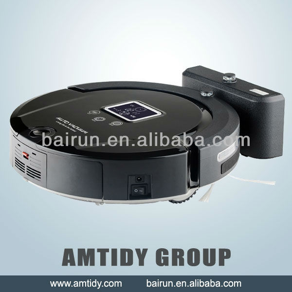 (Free Shipping to All Country) New Automatic Intelligent Robot Vacuum Cleaner Self Charging, Remote Control,LCD Touch Screen(China (Mainland))
