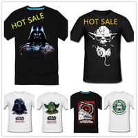 star wars darth vader 100% male cotton casual short-sleeve T-shirt 13.5 dollars Stock shipping$ 13.5 Free shipping