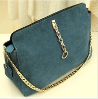 2013 New Fashion  women's chains genuine leather handbag cowhide  vintage shoulder bag