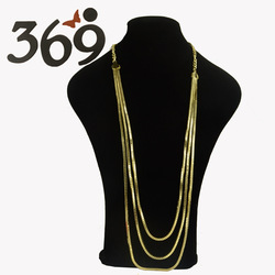 The latest chain hot simple box chain shining women Necklace party(China (Mainland))