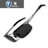 Brand aluminum magnesium polarized sunglasses male driver sunglasses glasses
