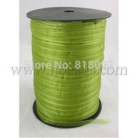 Organza Ribbon,  Apple Green,  6mm wide,  500yd/roll