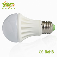 Free shipping 5W smd ceramic led bulb lamp 450lm High Quality e27 warm white cool white 5w led bulb smd
