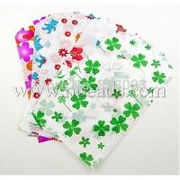 Stock Deals Plastic Bags,  Mixed Color,  about 9cm wide,  14cm long,  about 50pcs/bag