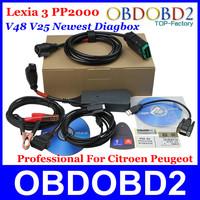 A+++Quality 2014 Newest Citroen Peugeot Diagnostic Tool PP2000 V25 Supports V7.36 Diagbox Lexia 3 V48 Psa XS Evolution CNP Free