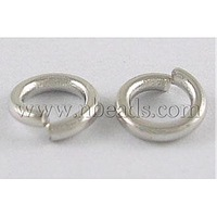 Brass JumpRings,  Close but Unsoldered,  Nickel Free,  Platinum,  4x0.8mm; about 24000pcs/1000g