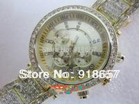 Free Shipping 2014 New Fashion Women Rhinestones Watches Luxury Brand Kors Watch Casual Quartz Women Wristwatches 4 color