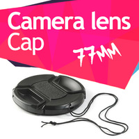 77mm Centre Pinch Lens snap on Cap for Canon Nikon Sony Tamron Sigma