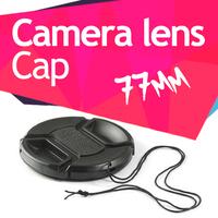 77mm Centre Pinch Lens snap on Cap for Canon Nikon Sony Tamron Sigma