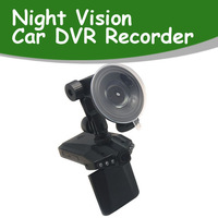Cheapest & Hot sales Car Dvr China 6LED night vision 2.5 inch screen Car vehical DVR camera blackbox H198, Free Shipping!