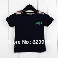Super quality 2013 new arrival London Style kids t shirt with excellent quality basic t shirt suitable for 80cm-140cm boys wear