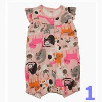 2013 new arrival carters cute flutter-sleeve baby girls rompers kids 100% cotton jumpsuit baby girl cute clothes infant wear
