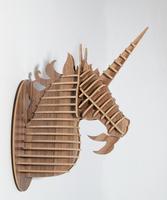 unicorn head ornament,animal wood carving,decorative items,unicorn home decor,diy craft,home wall hanging,decorative objects,mdf