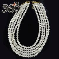 2013 New fashion pearl bib necklace wholesale wedding party