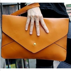 1 pcs Free Shipping Envelope Handbag Stylish Ladies' Totes /Design day clutches Fashion Shoulder Bag PU Envelope Bag(China (Mainland))