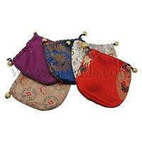 Stock Deals Satin Pouches,  Mixed Color,  Size: about 11cm wide,  11cm long
