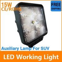 Free shipping  LED Car Bulb 15W Floodlight 10-30V 5*LED White 1150LM Extra Headlight For Vehicle Truck Work Lamp