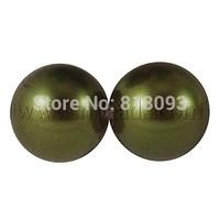 Imitated Pearl Acrylic Beads,  Round,  DarkOliveGreen,  30mm,  Hole: 3.5mm,  about 35pcs/500g