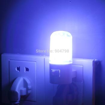 1 pcs Bedroom Night Lamp Light Plug Lighting AC 3W 6 LED Wall Mounting YKS