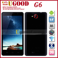 New Promotion Xiaocai G6 MTK6589 Quad Core Android Phone HD IPS Screen 1G RAM+4G ROM 13.1MP Camera Wifi 3G Unlocked In Stock
